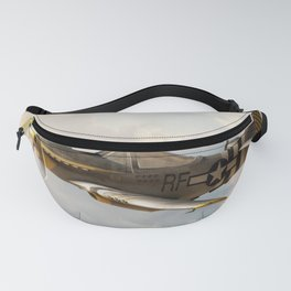 P-51 Mustang World War II Fighter Plane Profile Fanny Pack