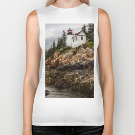 Bass Harbor Lighthouse - Acadia National Park Biker Tank