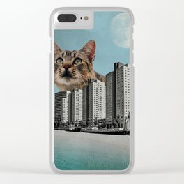 Cat City Clear iPhone Case
