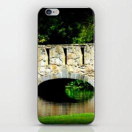 Bridge over Pond iPhone Skin