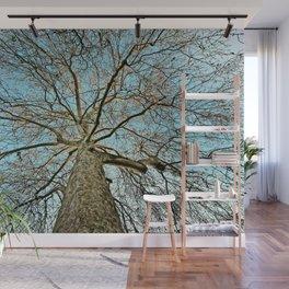 Leafless Tree in Winter Wall Mural