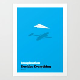 Lab No. 4 - Imagination Decides Everything Blaise Pascal Inspirational Quotes Poster Art Print