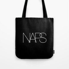 Naps Cosmetic Chic Black Typography Tote Bag