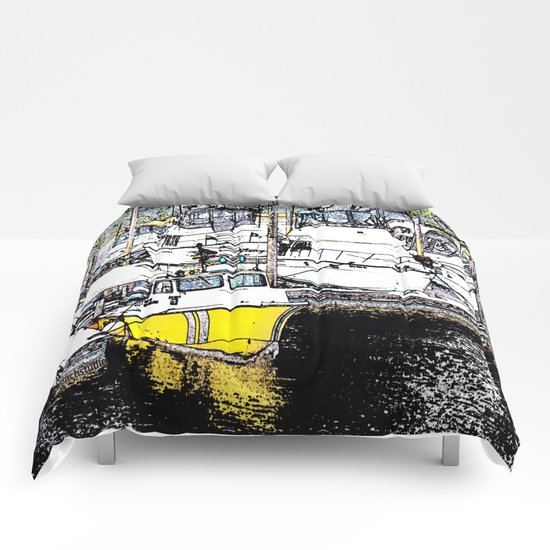 A Day of Boating Comforters