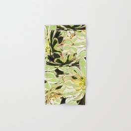 Yellow Desert Echeveria Pattern Hand & Bath Towel