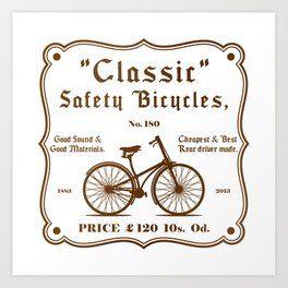 Classic Safety Bicycles Art Print