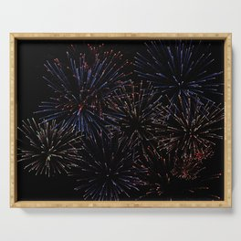 New Years Firework Texture Serving Tray
