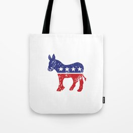 Democrat Original Donkey Distressed Tote Bag