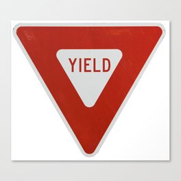 Road Traffic Yield Sign Canvas Print