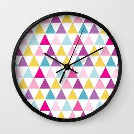 girlly bright triangles Wall Clock