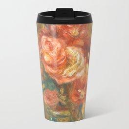 Renoir - Vase of Roses, 1890 Travel Mug
