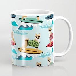 shiba inu surfing dog breed pattern Coffee Mug