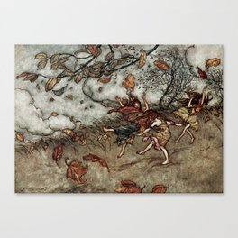 """Autumn Fairies"" by Arthur Rackham Canvas Print"