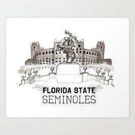 FSU Print *NEW Lettering* Art Print