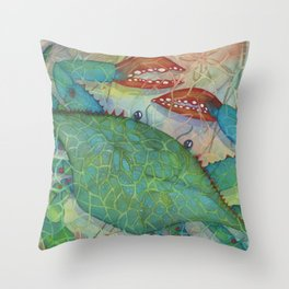 Crustacean Crazy Throw Pillow