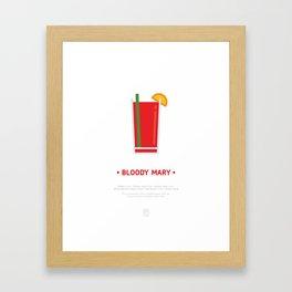 Bloody Mary Cocktail Recipe Art Print (White) Framed Art Print