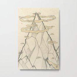 Ray Hope Mountain Metal Print