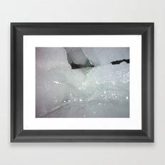 Ice cave Framed Art Print