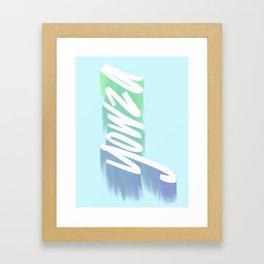 Yowza! Framed Art Print