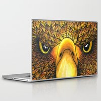 phoenix Laptop & iPad Skins featuring Phoenix by J Bradford Illustration
