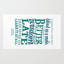 Sherlock Holmes novel quote – better late than never Rug