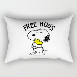 Free Hugs Snoopy Rectangular Pillow