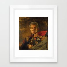 Sir Ian McKellen - replaceface Framed Art Print