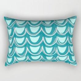 Mermaid Teal Pattern Rectangular Pillow