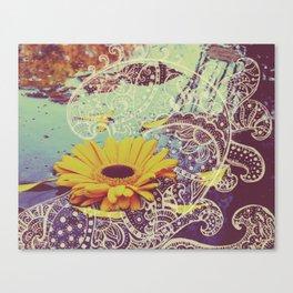 Unfurling Flower Canvas Print
