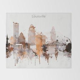 Vintage Louisville skyline design Throw Blanket