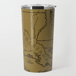 Vintage Agricultural Map of Louisiana (1912) - Tan Travel Mug