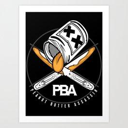 Peanut Butter Assassins Art Print