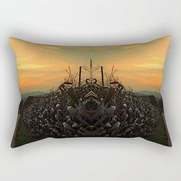 Cornfields with sundown   landscape photography Rectangular Pillow