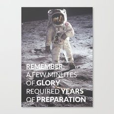 Motivational - Prepare For Glory (Moon Landing) Canvas Print