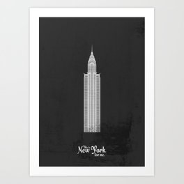 "This is New York for me. ""Chrysler"" Art Print"