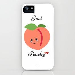 Just Peachy, Peach Art iPhone Case