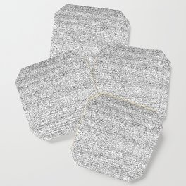 Back and White Simple Elegant Pattern Texture Coaster