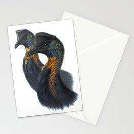Northern Cassowary, tropical bird in the nature of New Guinea Stationery Cards