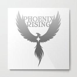 PHOENIX RISING grey with star center Metal Print