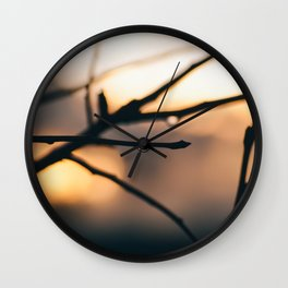 Drop of Sunset Wall Clock