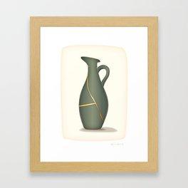 Kintsugi Jug Framed Art Print