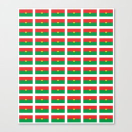 Flag of burkina faso- burkinabe,mossi,fula,ouagadougou,dioula,bobo-dioulasso,sahel,voltaic. Canvas Print