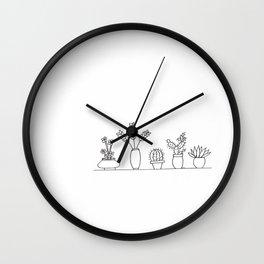 Plant Life 2 Wall Clock
