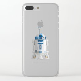 Fictional Robot/Droid Character Minimal Sticker Clear iPhone Case