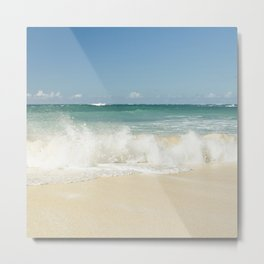 beach love shoreline serenity Metal Print