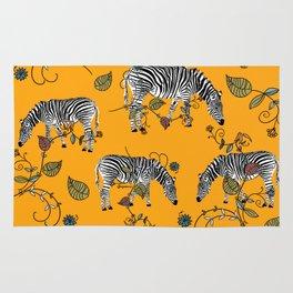 Mellow Yellow African Zebras - Bagaceous Rug