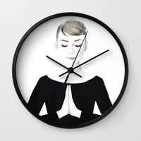 namaste Wall Clocks featuring NAMASTE by TEN-iD