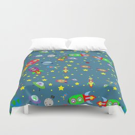Rockets to the moon Duvet Cover