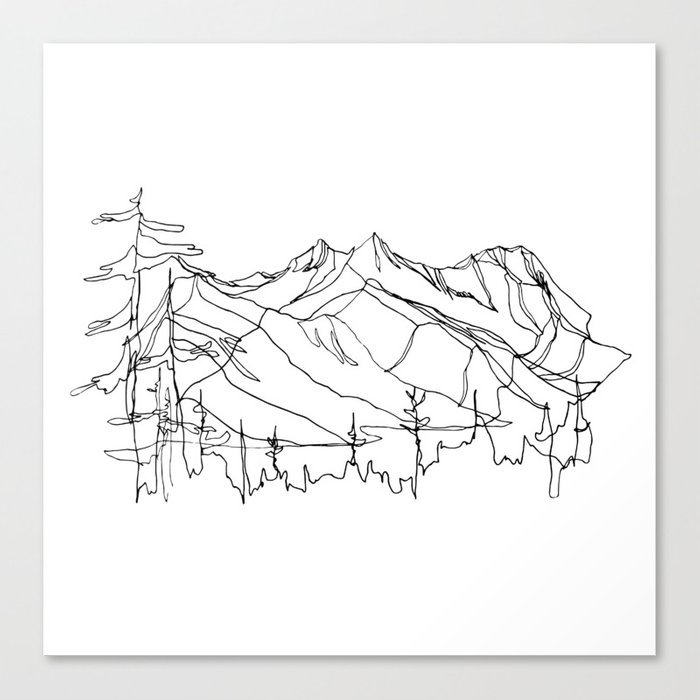 Squamish Summits :: Single Line Leinwanddruck