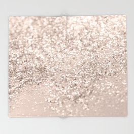Blush Glitter Dream #4 #shiny #decor #art #society6 Throw Blanket